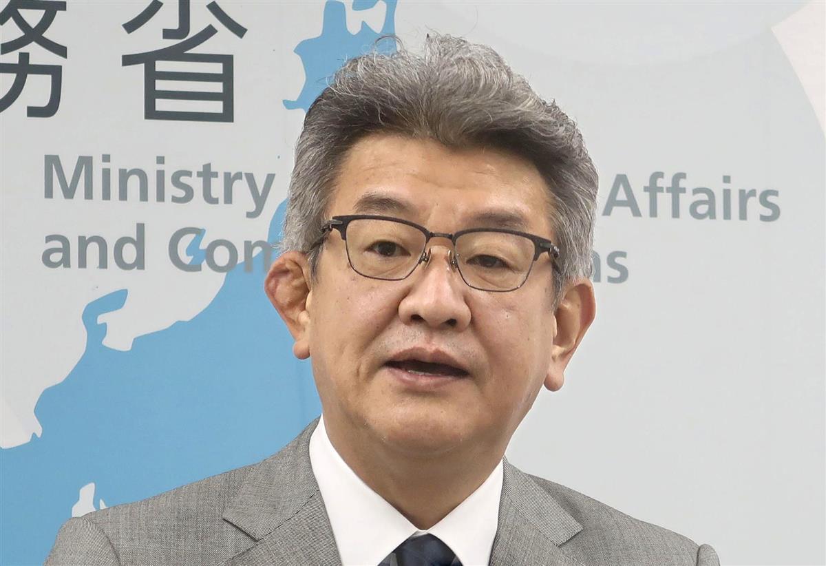 武田良太総務相=10月27日、総務省