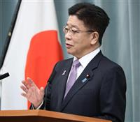 加藤官房長官、首相訪米「衆院解散でも制約ない」