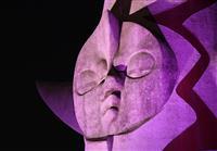 【動画あり】女性への暴力根絶 紫色で訴え 太陽の塔