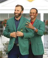 D・ジョンソン念願のタイトルに感極まる マスターズゴルフ
