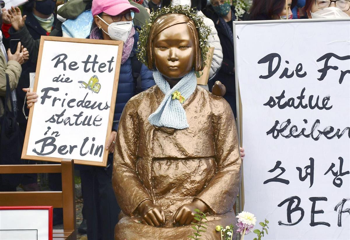 ドイツ・ベルリン市ミッテ区に設置された少女像(共同)