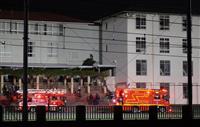 【動画あり】関大一高で火災 校舎が燃える 大阪・吹田