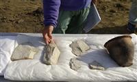 石包丁の原材料が大量出土 奈良県橿原市の慈明寺遺跡