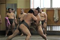 右肩負傷の朝乃山「感触はそこまで落ちてない」 相撲を取る稽古再開