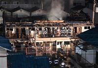 集合住宅で火災、2人死亡 大阪、住人と連絡取れず