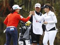 「120点」しぶこスマイル 渋野、6バーディー奪い首位 全米女子OPゴルフ