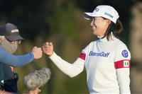 渋野、1打差で首位守る 「宙に浮いている感じ」 全米女子OPゴルフ第3日