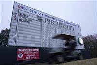 悪天候で中断後に順延 全米女子OPゴルフ最終日 渋野はスタートできず