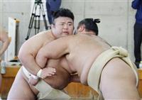 貴景勝が朝乃山相手に7勝3敗 大相撲合同稽古スタート