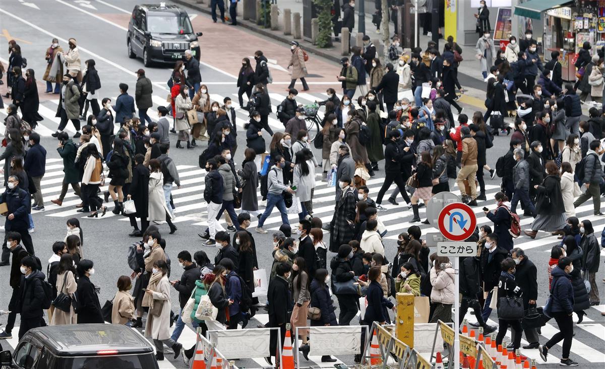 新型コロナウイルスの影響で、「対面授業を受けていない」との大学生の回答は44%に上った=24日午後、東京都渋谷区
