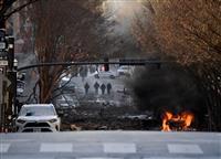 米南部の繁華街で車両が爆発、3人負傷 「意図的な行為」と警察