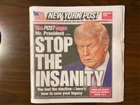 トランプ氏支持の米ニューヨーク・ポスト紙、社説で「敗北を受け入れよ」