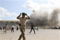 イエメンの空港で爆発、テロの可能性 暫定政権閣僚ら到着直後
