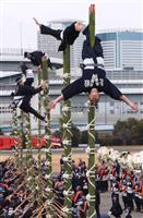 新春恒例の東京消防出初式、無観客で実施 伝統の技も披露