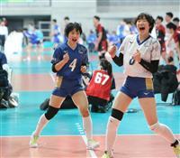 【春高バレー速報】(1)女子の金蘭会がストレート勝ち 2回戦からシード校が登場