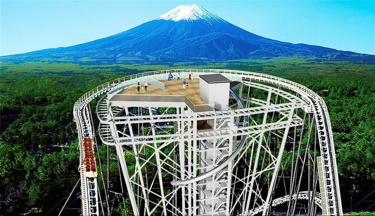 富士急ハイランドに今夏、展望台 恐怖の空中ウオークや絶叫滑り…