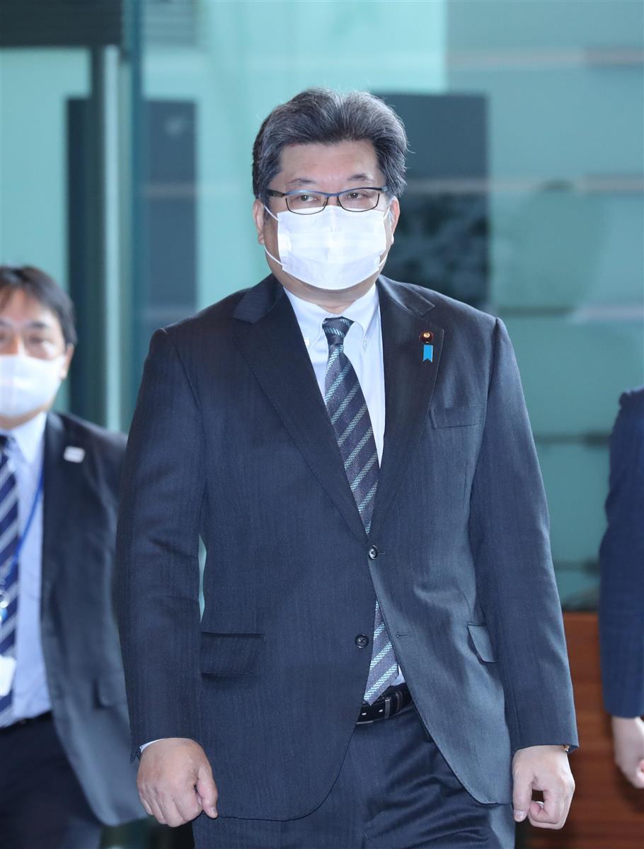 萩生田光一文科相=12日午前、首相官邸(春名中撮影)