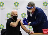 バイデン氏2回目接種 新型コロナワクチン