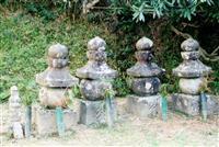 【石仏は語る】鎌倉中期 砂岩製の4基 西南院五輪塔 和歌山県高野町