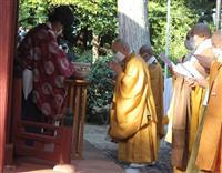 八幡神社に献茶復活 「大茶盛式」中止も「一味和合」伝える 西大寺