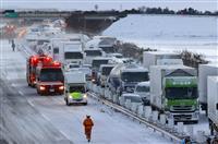 ホワイトアウトか…東北道で多重事故 死者1人、130台超が立ち往生