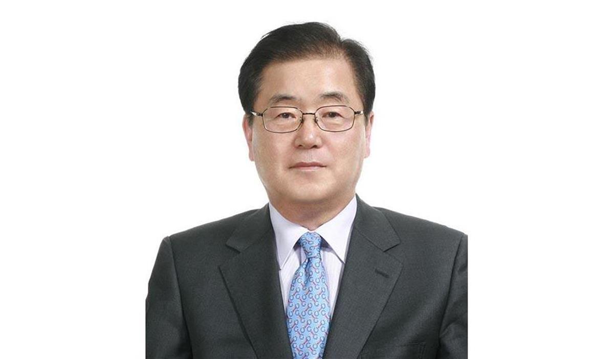 韓国の新外相に起用された鄭義溶氏(聯合=共同)