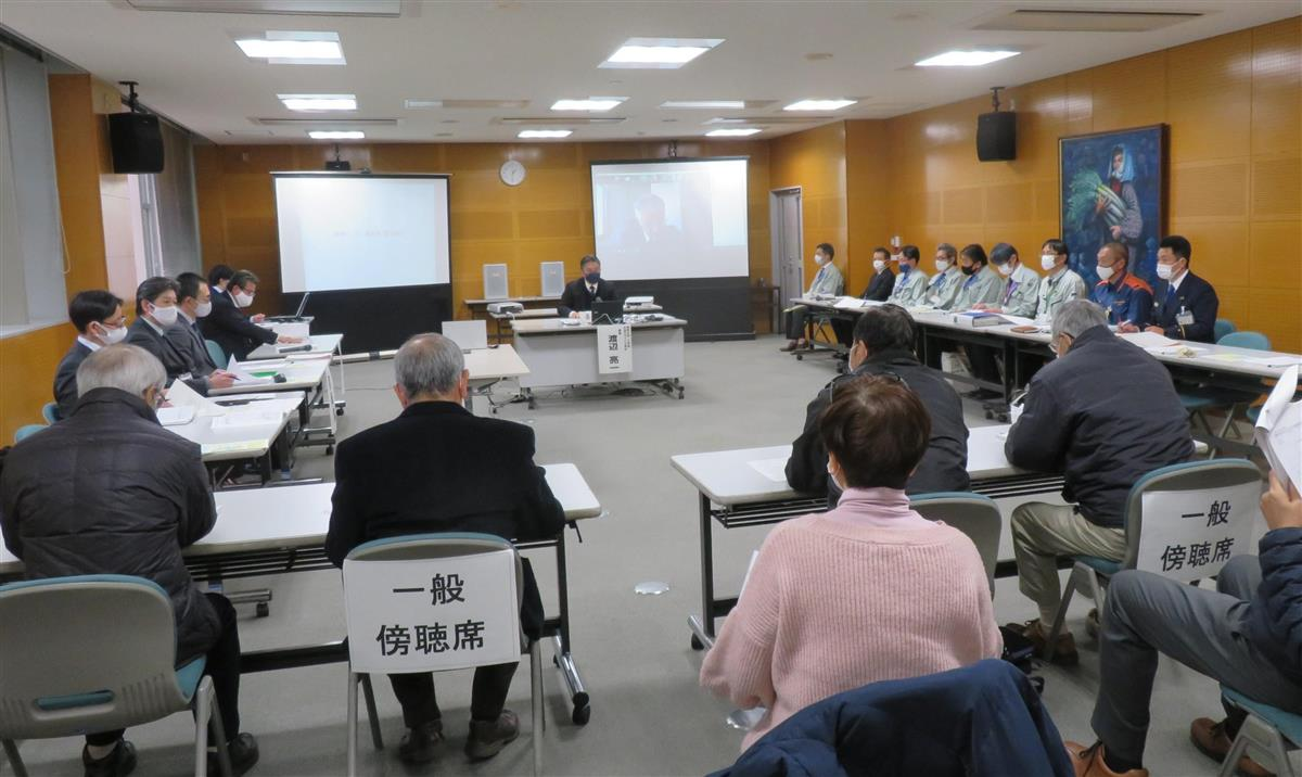 13項目の提言案をまとめた福岡県大牟田市の「7月豪雨災害検証委員会」の会合