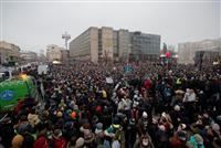 露抗議デモ 3000人超拘束 高まる反プーチン機運 政権の強硬姿勢浮き彫りに