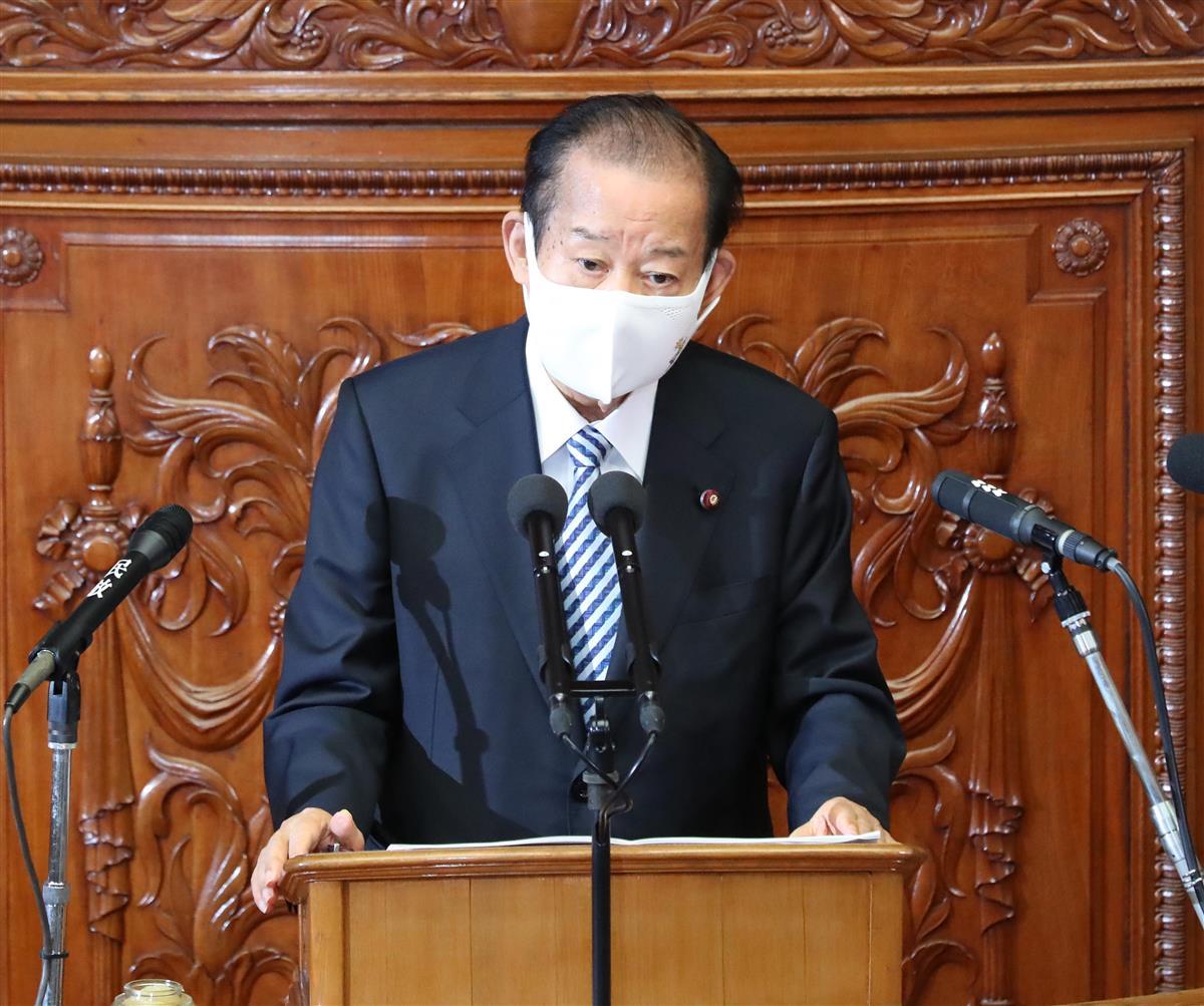自民党・二階俊博幹事長=20日午後、国会(春名中撮影)