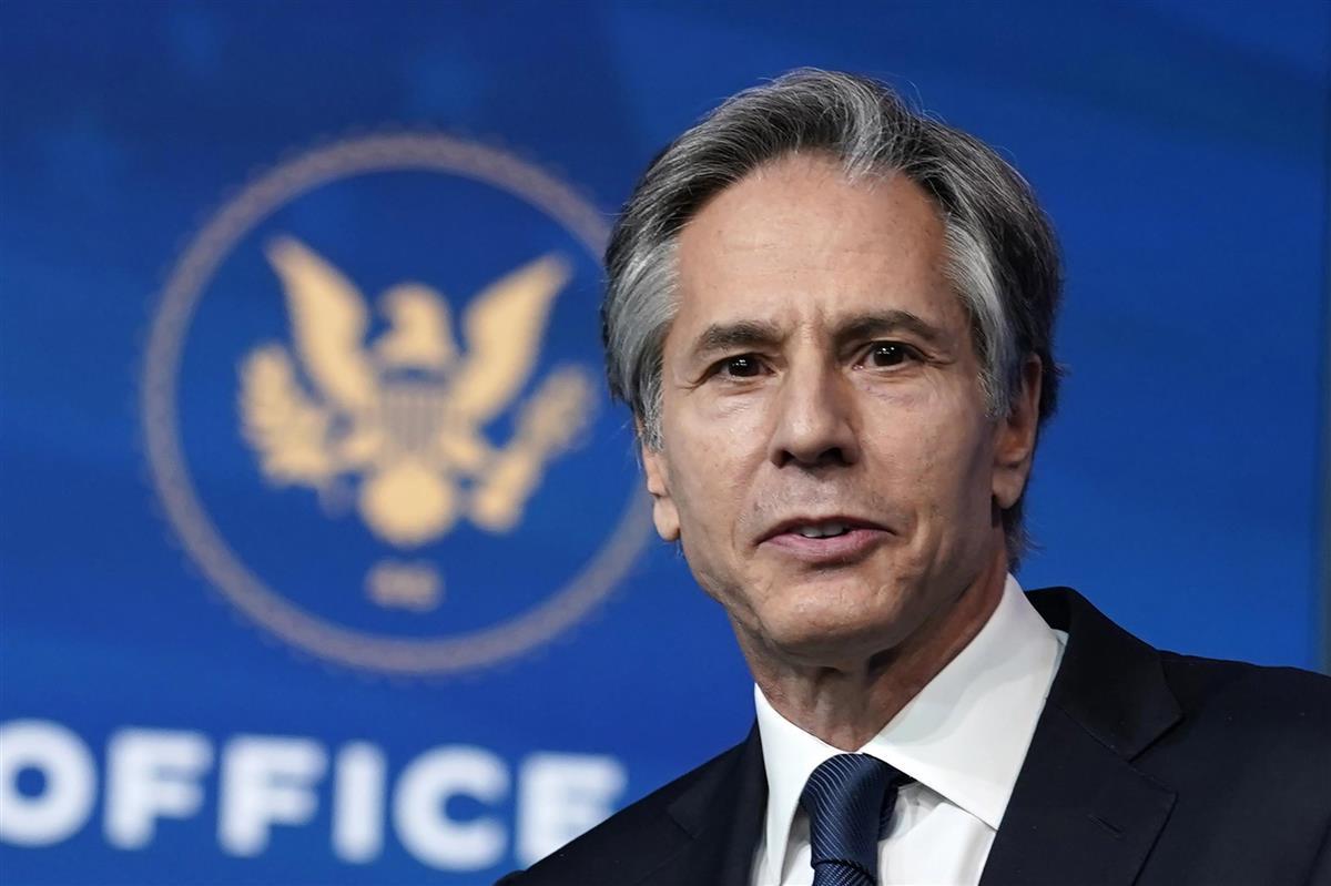 米国務長官に就任したブリンケン氏=2020年11月撮影(AP)
