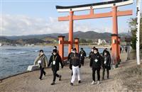 巨人・原監督「寂しいね」 閑散の中で青島神社参拝