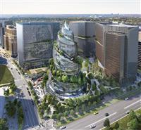 米アマゾン、らせん状建物 第2本社開発案を公開
