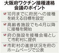 ワクチン接種「10月完了」 大阪府、診療所を活用