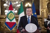 伊首相候補に指名されたドラギECB前総裁、統一内閣樹立に意欲