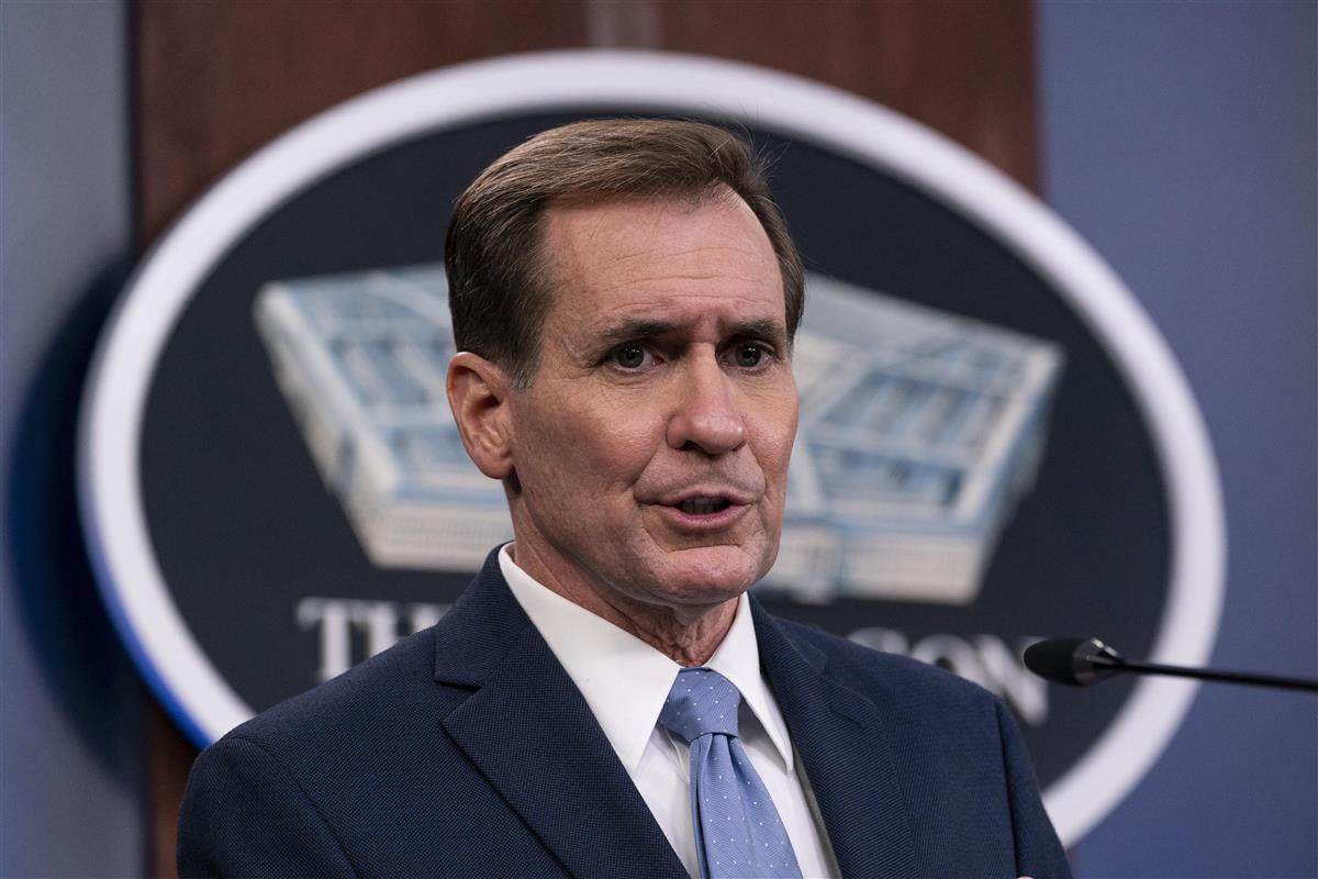 米国防総省のカービー報道官(AP)