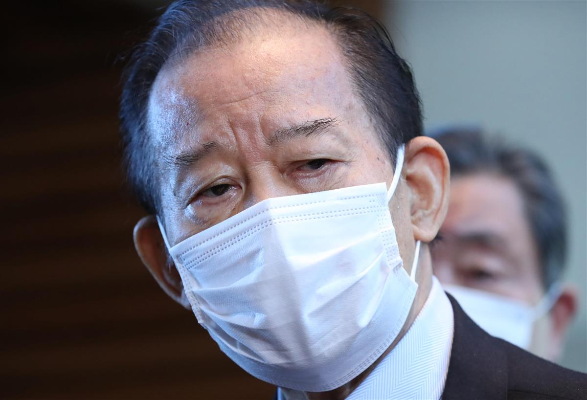 自民党・二階俊博幹事長(春名中撮影)
