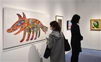 「巨匠から現代作家まで」東大阪でクレパス画名作展開幕