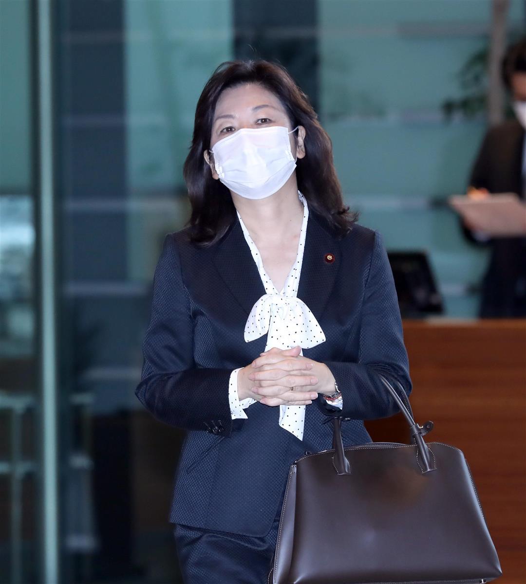 自民党・野田聖子幹事長代行=1月12日、首相官邸(春名中撮影)