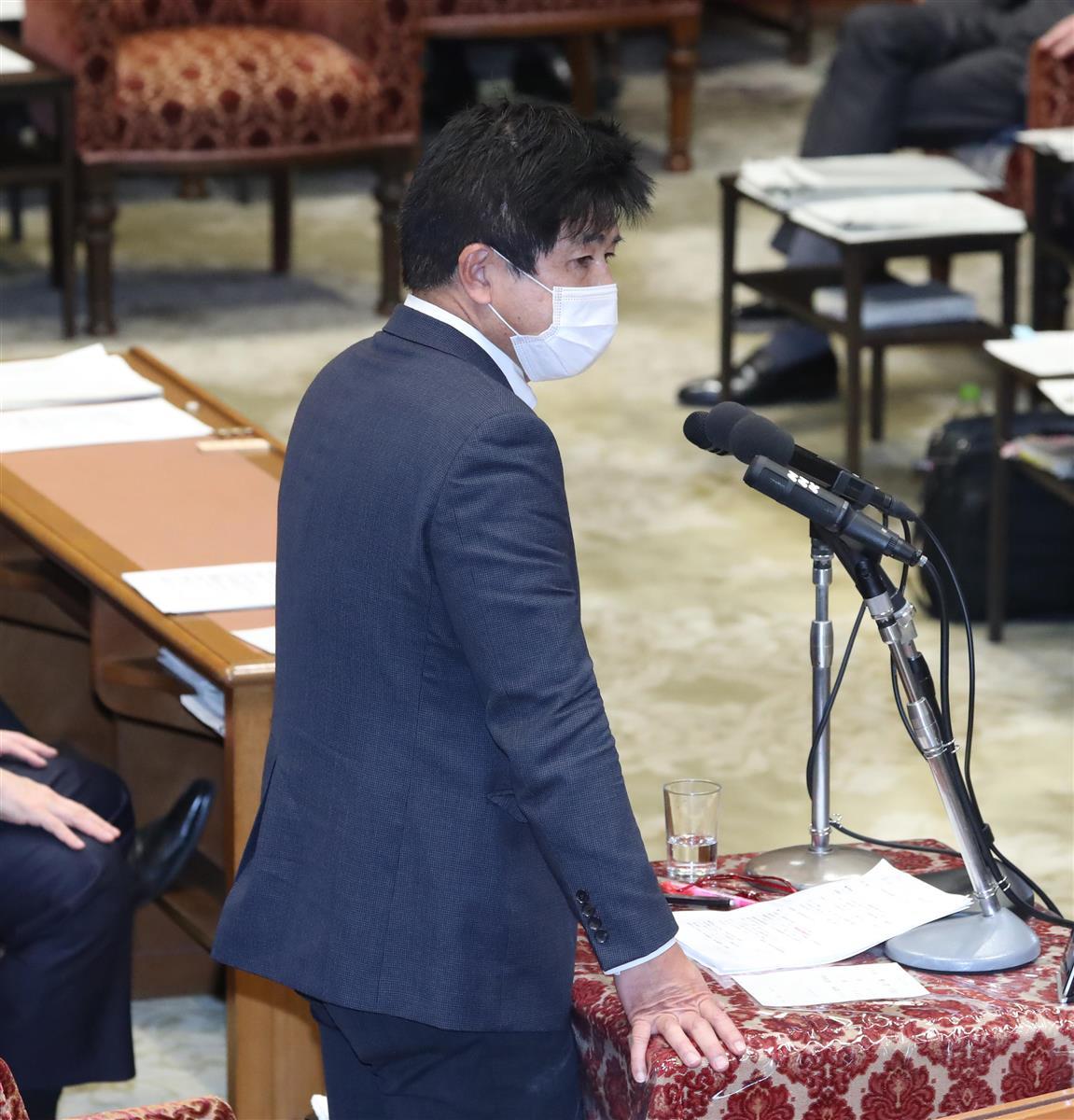 衆院予算委員会で質問する立憲民主党・今井雅人氏=10日午前、国会・衆院第1委員室(春名中撮影)