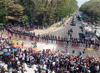 国連、ミャンマー抗議デモ弾圧を「強く懸念」