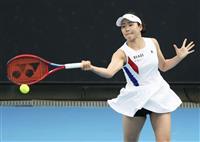 日比野、3回戦進出ならず 全豪テニス、昨年女王ケニン敗れる