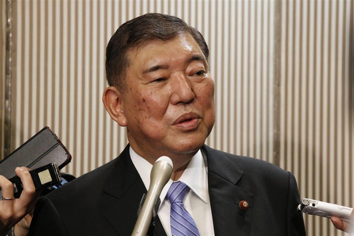 自民党の石破茂元幹事長=2020年11月20日、東京・紀尾井町のホテルニューオータニ