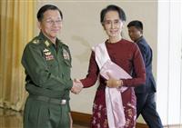 国連人権理、スー・チー氏ら解放要求の決議採択 内容は後退