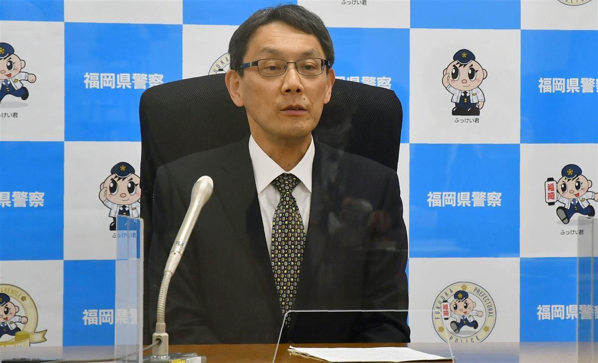 福岡県警本部長に15日付で着任し、記者会見する野村護本部長