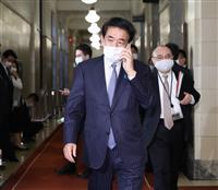 自民・下村政調会長、白須賀氏離党「自民党にダメージ」