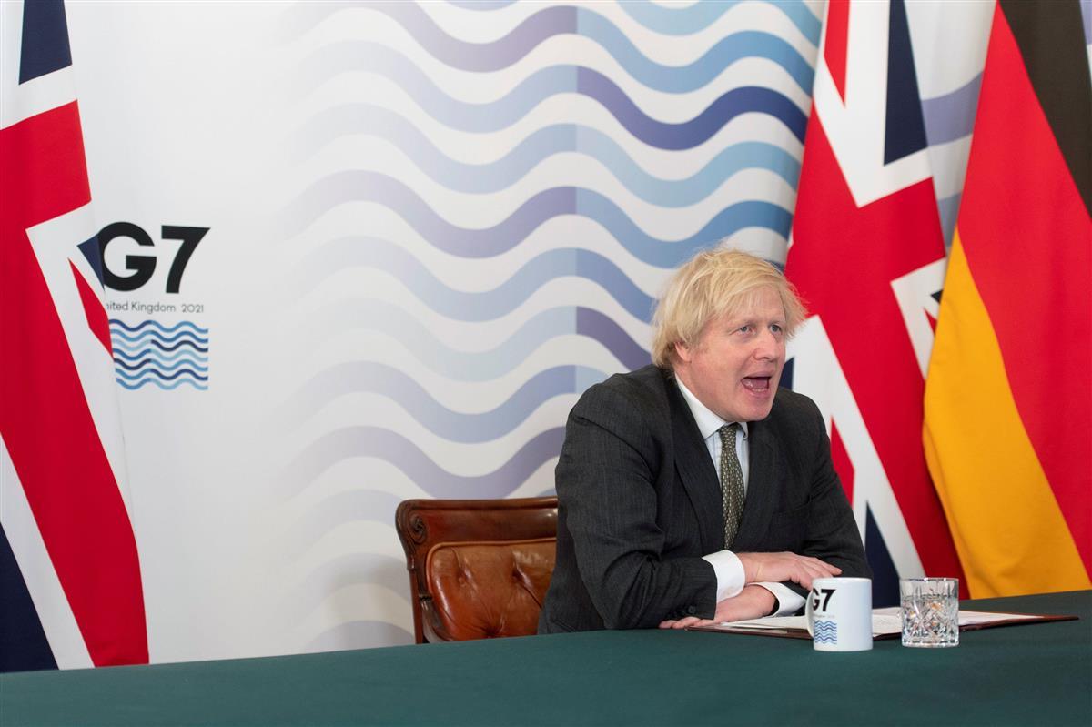 19日開かれた、英国が議長を務める先進7カ国(G7)首脳会議(ロイター)
