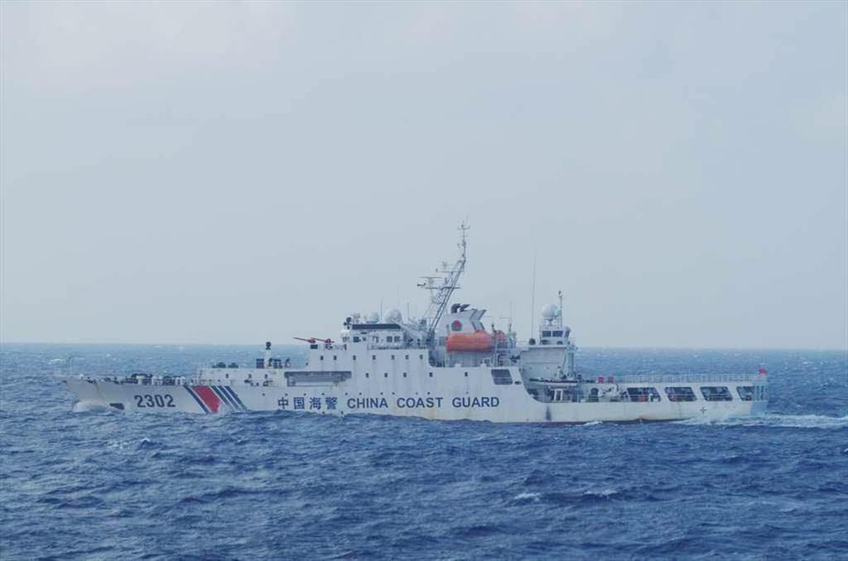 21日に尖閣諸島(沖縄県石垣市)の領海に侵入したとされる中国海警局の船と同型の船(海上保安庁提供)