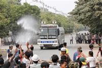 日本、デモ発砲強く非難 「民間人への暴力停止を」