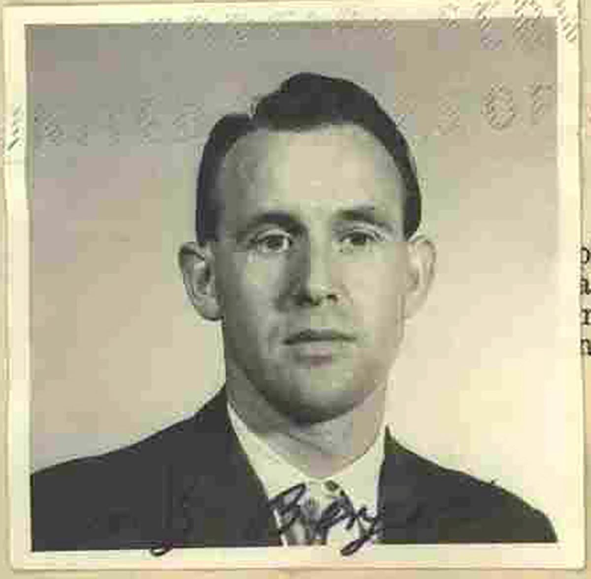 米政府がドイツに移送した強制収容所の元看守の男=1959年撮影(米司法省提供、ロイター)