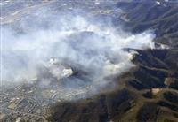 栃木の山火事、消火続く 発生から5日目